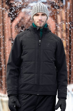 Men's Insulated Hybrid Soft Shell Jackets - Pepsi