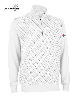 Ashworth Men's French Terry Print Pullover - Diet Pepsi