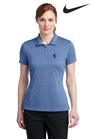 Ladies' Nike Golf Dri-FIT Heather Polo - Pepsi