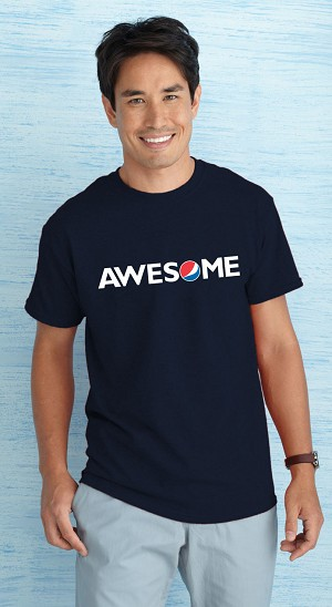 Men's Banner T-Shirt - Navy - Awesome