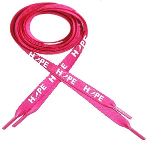 """New"" Pink Ribbon Shoelaces - Awareness"