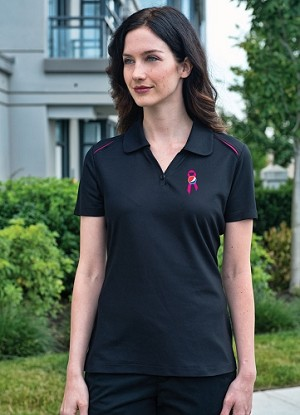 Ladies  Contrast Sports Shirt - Awareness