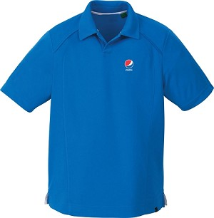 Men's Recycled Polyester Performance Pique Polo - Pepsi