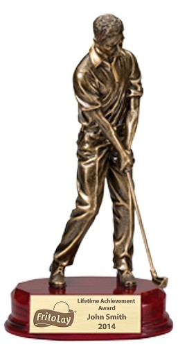 Golfer Resin Award 2