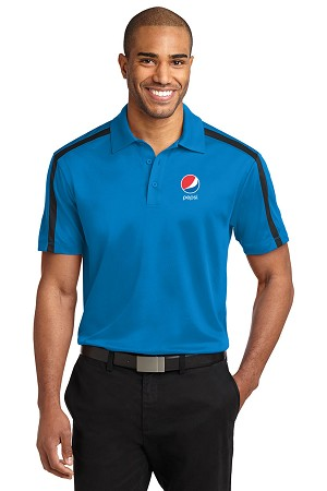 Silk Touch™ Performance Colorblock Stripe Polo - Pepsi