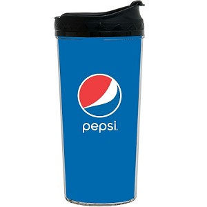 16oz Tumbler with Screw on Flip Lid - Pepsi