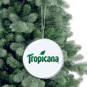 Round Glass Ornament - Tropicana